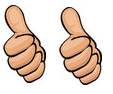 two thumbs up, 2 thumbs up, thumbs up