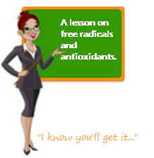 free radicals, teacher, antioxidants